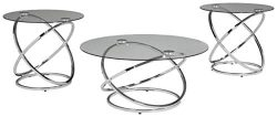 Ashley Furniture Signature Design – Hollynyx Contemporary 3-Piece Table Set – Includ ...