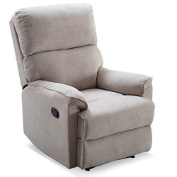 ANJ Manual Recliner, Living Room Reclining Chair Soft and Warm Camel