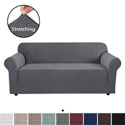 H.VERSAILTEX High Stretch Sofa Cover 1 Piece Couch Covers, Lounge Covers for 3 Cushion Couch, So ...