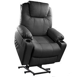 Furgle Power Lift Recliner Chair with Massage, Heat and Vibration Elderly Massage Recliner TUV C ...
