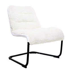 Zenree Living Room Chair Lounge Accent Upholstered Chairs with Sherpa Seat for Bedroom Dorm Teen ...