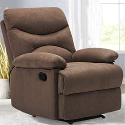FRIVITY Chair Recliner, Microfiber Ergonomic Sofa Living Room Sofa with Heated Control Home Thea ...