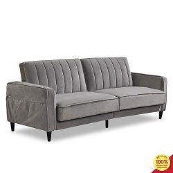 Sofa Bed Living Room Furniture Sets, Tufted Futon Wide Chaise Lounge Couch for 3 Seats, with Pre ...