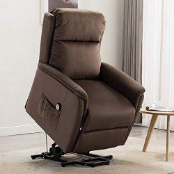 BONZY HOME Power Lift Recliner Chair Lift Chair for Elderly with Overstuffed Soft Fabric Lumbar  ...