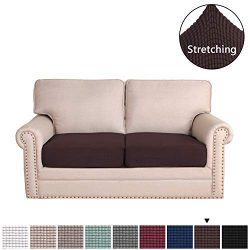 Stretch Stylish Furniture Sofa Cushion Slipcovers for Loveseat Cushion Featuring Jacquqard Textu ...