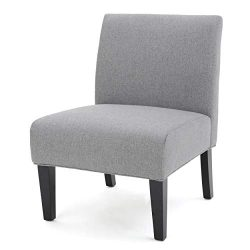 Christopher Knight Home Kendal Grey Fabric Accent Chair, One