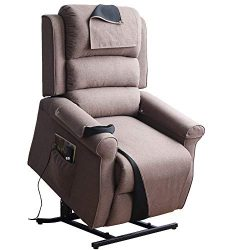 Irene House Power Modern Transitional Lift Chair Recliners with Soft Linen(Brushed ) Fabric (B ...
