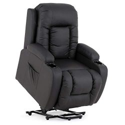 Mecor Power Lift Recliners,Lift Chairs for Elderly,PU Leather Lifting Recliner Chair with Massag ...