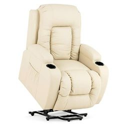 Mecor Power Lift Recliners,Lift Chairs for Elderly,PU Leather Reclining Lift Chair with Massage/ ...