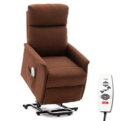 ERGOREAL Lift Chair, Power Lift Recliner with Heat and Massage Functions, Remote-Controlled Powe ...