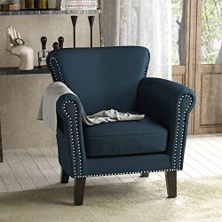 Christopher Knight Home Brice Arm Chair, Navy Blue