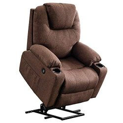 Mcombo Electric Power Lift Recliner Chair Sofa with Massage and Heat for Elderly, 3 Positions, 2 ...