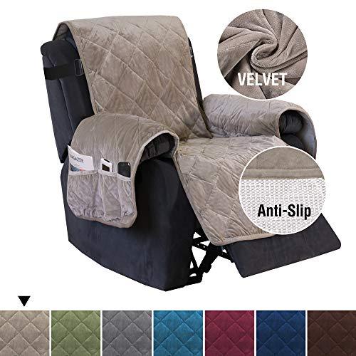 H.VERSAILTEX Quilted Velvet Plush Recliner Slipcover Recliner Chair Cover Recliner Covers for La ...