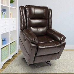 oneinmil Power Lift Recliner Chair – Massage Chairs Full Body and Recliner Heated Leather  ...