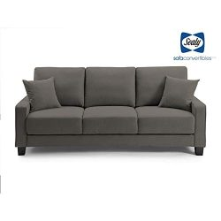 Myers Drop Back Drak Gray Sofa Convertible by Sealy
