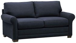 Stone & Beam Kristin Mid-Century Wood-Framed Sleeper Sofa, 76″W, Navy
