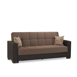 Ottomanson Sofa, 88 x 38 X 36, Brown