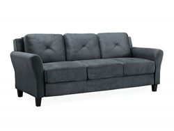 Lifestyle Solutions Collection Grayson Micro-fabric SOFA 80.3″ x 32″ x 32.68″  ...