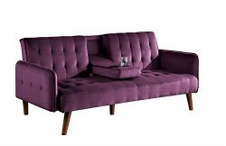 Container Furniture Direct Cricklade Convertible Sofa Bed, Burgundy