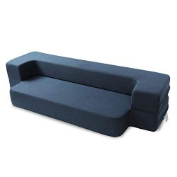 MAXDIVANI Floor Sofa Bed,Folding Memory Foam Mattress Travel Foam Convertible Sofa Queen Folding ...