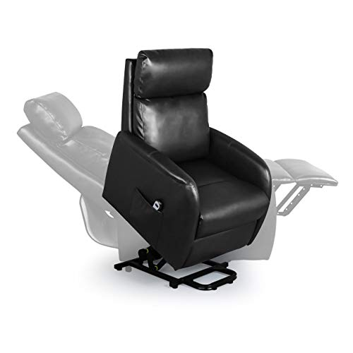 Home Power Modern Electric Lift Chair for Elderly, Soft Fabric Recliner with Remote, Leisure Lou ...
