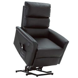 Mcombo Electric Power Lift Recliner Chair Sofa for Elderly, 3 Positions, 2 Side Pockets, USB Por ...