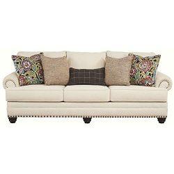 Signature Design by Ashley – Harrietson Modern Memory Foam Queen Sofa Sleeper, Shell