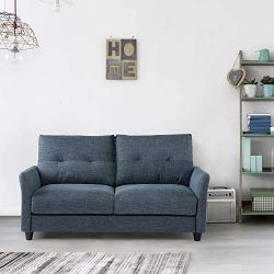 """Lauraland Loveseat Sofa 62"""", Upholstered Fabric Sofa Couch Suitable for Living Room and Of ..."""