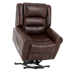 Mecor Power Lift Chair,Lift Recliners for Elderly,Reclining Lift Chairs with Dual Motor,Pu Leath ...