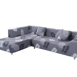 MIFXIN L Shape Sofa Cover 2 Pcs Stretch Slipcover for L-Shaped Couch Sectional Sofa Furniture Pr ...