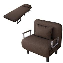 Alalaso Sofa Bed Folding Sleeper Bed Chair,Single Sleeper Convertible Chair Lounger Couch Reclin ...