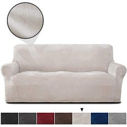 RHF Velvet-Sofa Slipcover, Stretch Couch Covers for 3 Cushion Couch-Couch Covers for Sofa-Sofa C ...
