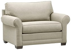 Stone & Beam Kristin Chair-and-a-Half Upholstered Sleeper Sofa, 55.5″W, Stone