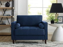 Lifestyle Solutions Lexington Chair in Navy Blue