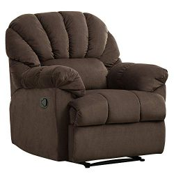 Bonzy Home Microfiber Recliner Chair, Reclining Sofa Couch, Home Theater Seating with Thicken Wi ...