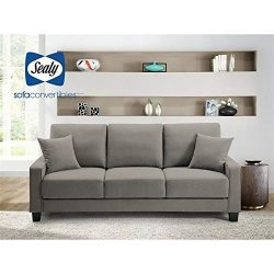Myers DropBack Gray Sofa Convertible by Sealy