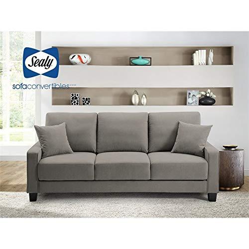 Myers DropBack Gray Sofa Convertible by Sealy