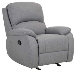Ravenna Home Oakesdale Contemporary Recliner, 35.4″W, Langley Grey
