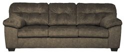 Signature Design by Ashley – Accrington Queen Size Contemporary Sofa Sleeper, Earth Brown