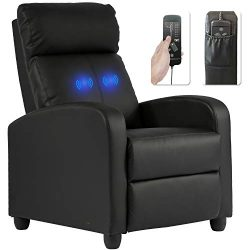 Recliner Chair for Living Room Massage Recliner Sofa Reading Chair Winback Single Sofa Home Thea ...