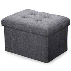 Alasdo Storage Ottoman Foldable Rectangle Cube Coffee Table Multipurpose Foot Rest Short Childre ...