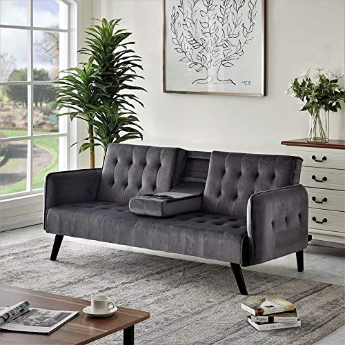 US Pride Furniture Sofabed, Sleeper, Grey