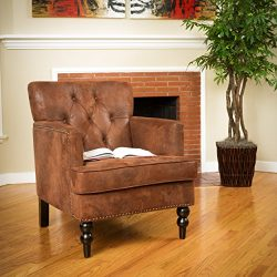 Christopher Knight Home Malone Tufted Club Chair, Brown