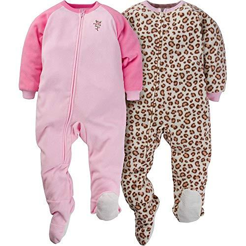 Gerber Toddler Girls 2 Pack Blanket Sleeper, flower, 4T