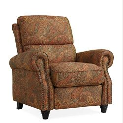 Domesis Cortez Push Back Recliner Chair in Paisley