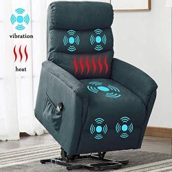 Electric Power Lift Recliner Chair, BONZY HOME Remote Control Chair with Massage Heat and Vibrat ...
