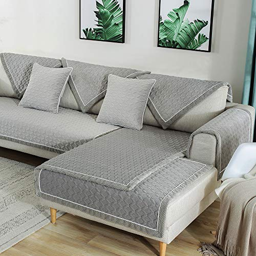 TEWENE Sofa Cover, Velvet Couch Cover Anti-Slip Sectional Couch Covers Sofa Slipcover for Dogs C ...