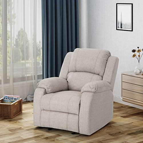 Christopher Knight Home Michelle Gliding Recliner, Beige + Black