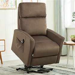 Power Lift Recliner Chair, 3 Position & Side Pocket, Bonzy Home Living Room Chair for Elderl ...