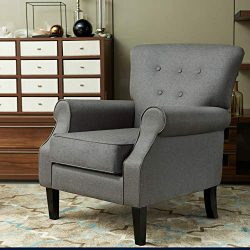 LOKATSE HOME Accent Arm Chair Mid Century Upholstered Single Sofa Modern Comfortable Furniture P ...